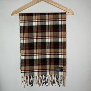 NWT D&Y Brown Plaid softer then cashmere scarf
